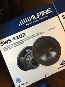 STILL IN BOX-- Two 12 inch Type S subwoofers/Alpine MRX-M100