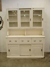 C21005 Lge Vintage White French Country Kitchen Dresser Cabinet Unley Unley Area Preview