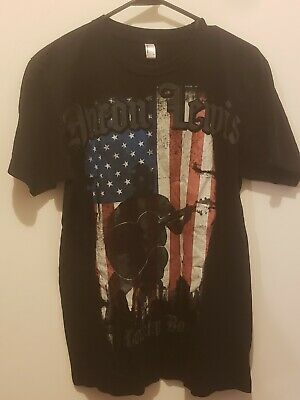 Aaron Lewis Country Boy T-Shirt Mens M Pop Artists Patriotic USA flag logo - Country Boy T-shirt