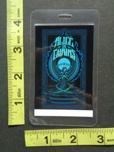 ALICE IN CHAINS,Original laminated  Backstage pass