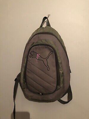 Mens Puma Grey Pro Training II Polyester Backpack Backpacks Size L