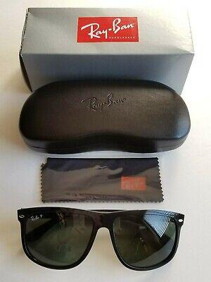 Brand New Ray-Ban Boyfriend Shiny Black Sunglasses Polarized Classic G-15 (Ray Ban Boyfriend Glasses)