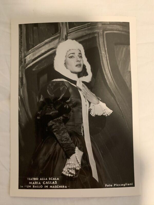 """MARIA CALLAS Original Opera 4"""" x 6"""" Piccagliani Photo Un Ballo in Maschera"""