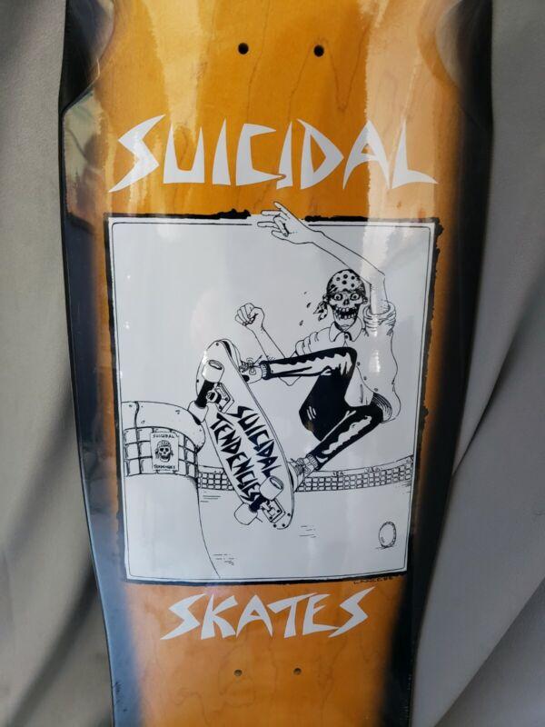 """Dogtown """"Pool Skater"""" deck 10.125"""" x 30.5 Orange/Black Fade Lance Mountain 1983R"""