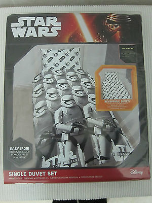 Star Wars (The Force Awakens) Single duvet/Quilt cover ( Character World) - New