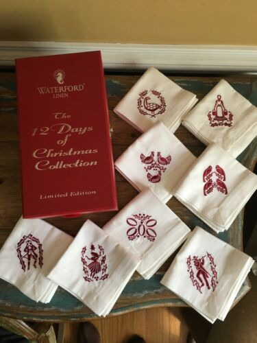 Waterford 12 Days of Christmas Limited Edition Napkins