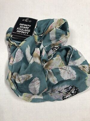 "Ladies Scarf Infinity Scarf 10"" W. x 68"" Around - In Polyester Abstract Print"