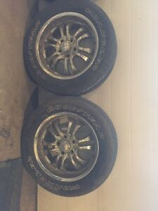 "20"" dodge rims and good rubber."