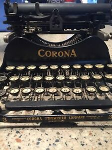 Antique Corona Typewriter For Sale