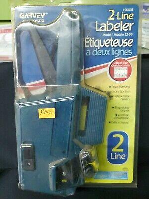 Garvey Price Gun 2-line Labeler Brand New 22-88