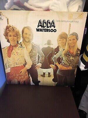 ABBA Waterloo UK ORIGINAL A4/B2 EPIC RECORDS 1974 EPC 80179 VINYL LP EX