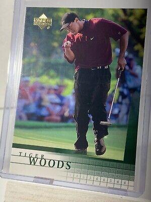 Tiger Woods 2001 Upper Deck Golf Card Number 1