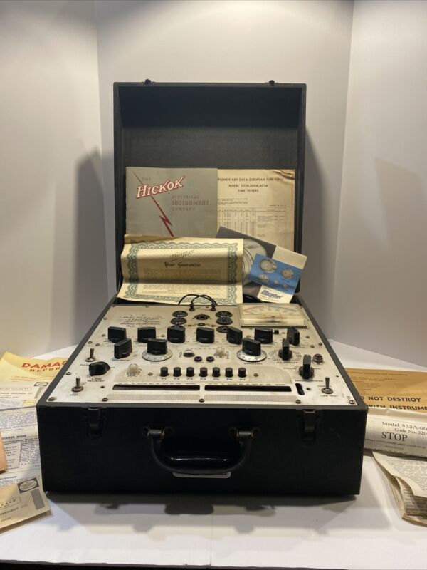 Vintage Hickok 533A Dynamic Mutual Conductance Tube Tester Original Manuel Paper