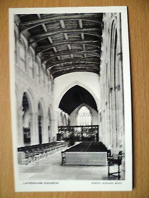 Real Photo Postcard: LAVENHAM CHURCH Interior Views, Suffolk, Photo:Richard Burn