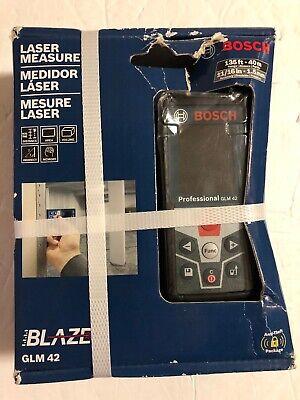 New Bosch Glm 42 Blaze 135 Laser Distance Measurer Newfactory Sealed