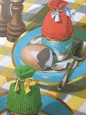 Beginners Easy Knit Egg Cosies Knitting Pattern for sale  Cannock