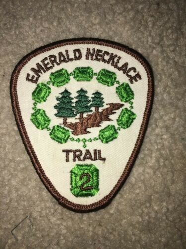 Boy Scout Emerald Necklace 2 NO FDL Greater Cleveland Council Ohio Trail Patch