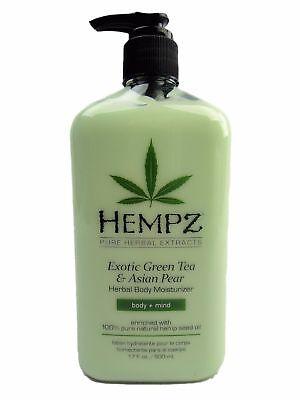 Hempz Exotic Green Tea And Asian Pear Herbal Body Moisturizer Lotion 17Oz