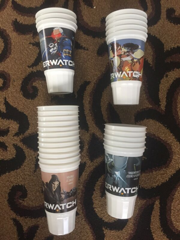 Overwatch taco Bell Cups Lot 25 Cups
