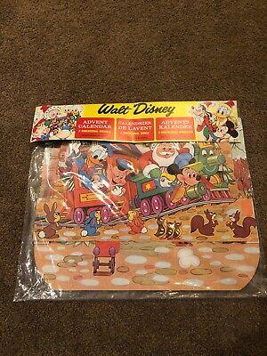 VTG Walt Disney Christmas Advent Calendar 3-D Dimensional Moveable MickeyNOS