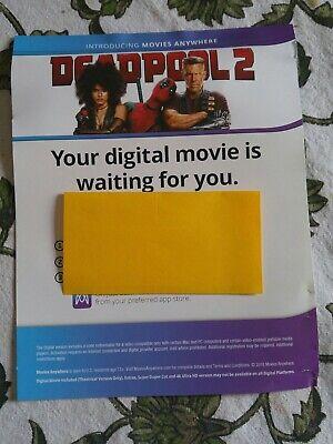 Deadpool 2....dig code from 4k set
