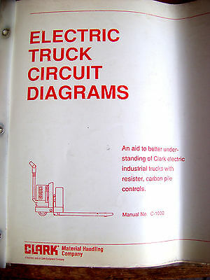 Clark Electric Truck Circuit Diagrams No C1000 Forklift Fork Lift Lot 454
