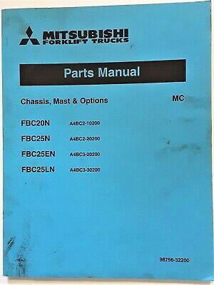Mitsubishi Forklift Fbc20n 25n Fbc25en Fbc25ln Chassis Mast Option Parts Manual