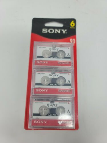 Sony Microcassette Tape 90 Minute MC-90 6 Pack New & Sealed