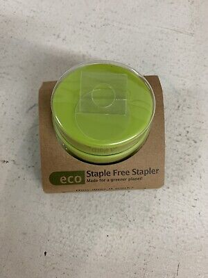Made By Humans 455 Eco Staple-free Round Stapler Green New