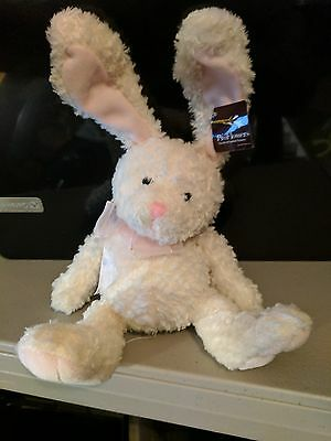 Proflowers White Bunny Rabbit Easter Plush Stuffed Animal Soft Toy 9  W Tag