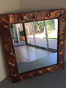 1970's Copper Framed Mirror Mosman Mosman Area Preview
