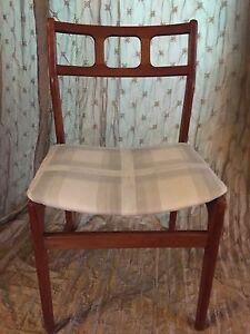 Vintage Mid Century Danish Modern Teak D SCAN Dining Chairs