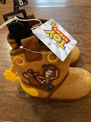 Toy Story Woody Boots (NEW Toddler Toy Story Woody Slippers Slipper Boots Size 5/6 7/8 9/10 or)