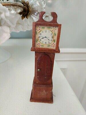Dollhouse Miniature  Grandfather Clock wood furniture accessories for sale  Hockessin