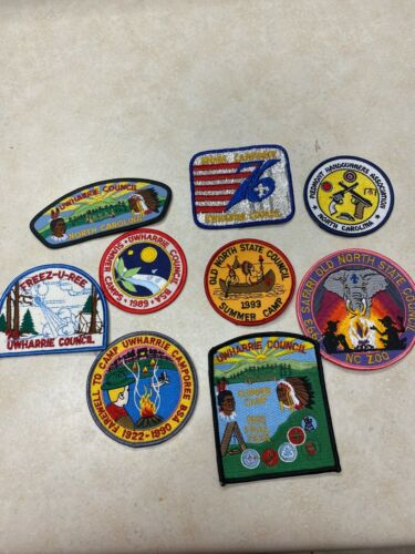 Lot of 9 North Carolina Boy Scout Patches