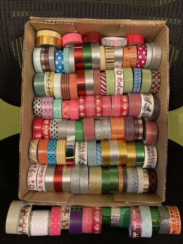 Mix Varity of 105 Washi Tape Lot Paper Tape Scrapbooking Crafting Tape