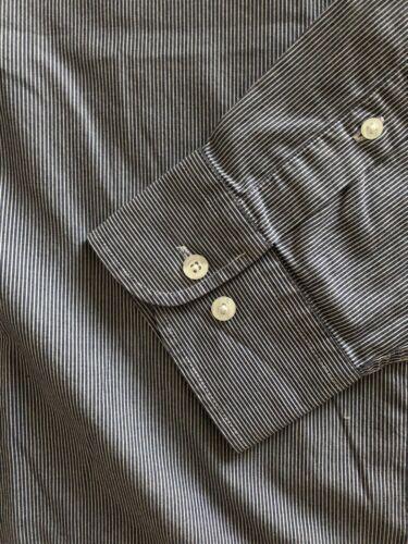 Élégante chemise à manches longues mise au green  taille 3xl rayée bleu/blanc