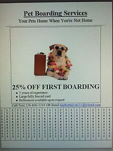 DOG BOARDING SERVICES 25% OFF FIRST TIME CLIENTS