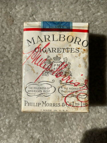 VINTAGE / COLLECTABLE 1953 MARLBORO CIGARETTE PACKET FREE SHIPPING