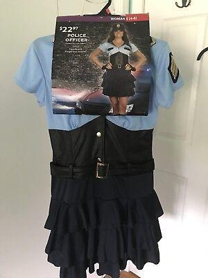 Women's Halloween Costume  Police Officer of Law Uniform S- (4-6) - Law Halloween Costumes