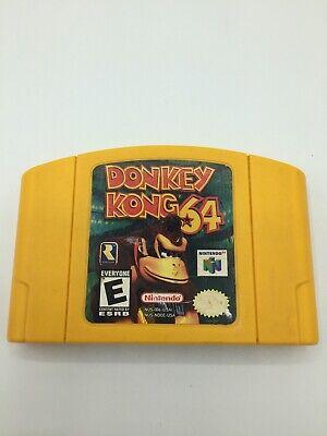 Donkey Kong 64 (Nintendo 64, 1999) N64 Authentic Tested!