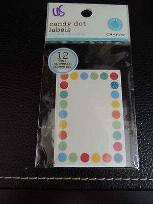 Martha Stewart Candy Dot Jar Labels-Canning- Stickers 12 ct  # 65