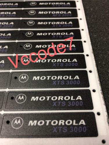 Motorola XTS3000 (BLACK) Front Label for Model 1,2,3 Will not fit XTS3000