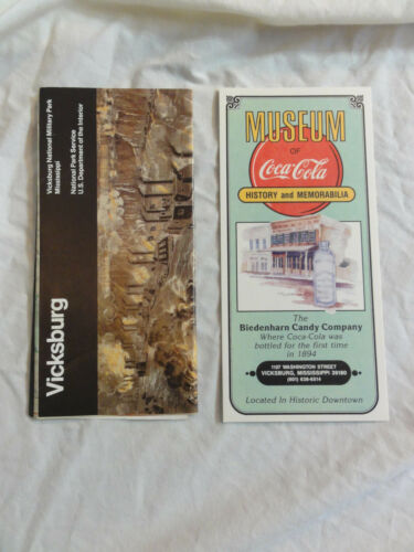 Vintage Pamphlet Lot MS - VICKSBURG National Military Park & Muesum of Coca-Cola