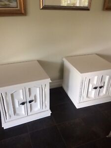 Gorgeous Pair of White End Tables