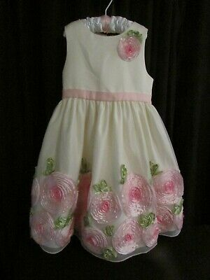 American Princess Girl's Cream Sleeveless Easter Wedding Party Dress 6x