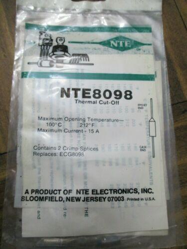 NTE 8098 Thermal Cut Off Fuse 100°C, 212°F NOS