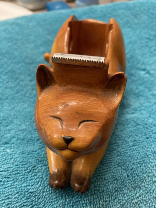Vintage  Figi  TD-102 Kitty Cat Figural Tape Measure