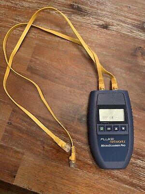 Fluke Networks Microscanner Pro 10100 Cable Tester