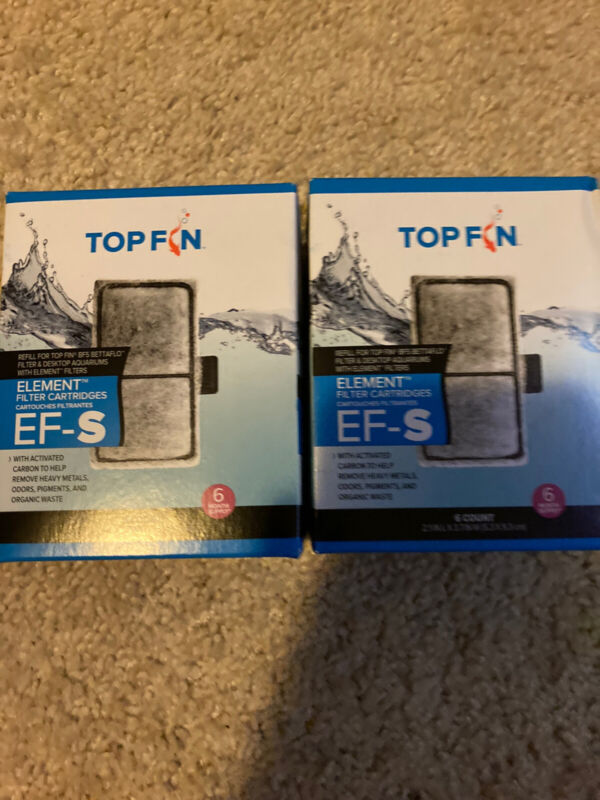 Top Fin Fish Tank Element Filter Carbon Cartridges EF-S 12 Month Supply 2.1x 3.7